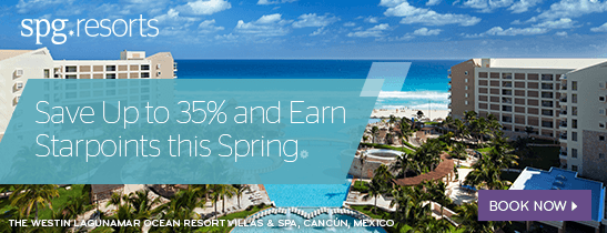 Save up to 35% and Earn Starpoints this Spring