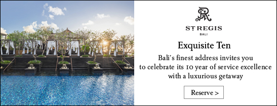 10 anniversary package at The St. Regis Bali Resort