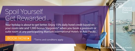 Enjoy USD 10 for daily credit & bonus Starpoints® when you book any suites.
