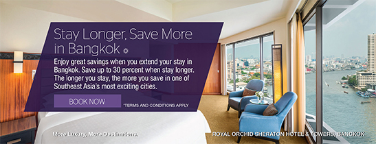 Save up to 20% when stay longer. Room only rates start at THB 3,200++ per night for a Deluxe Riverview Room.