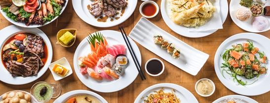 Join us for Japanese themed buffet on every Wednesday and Thursday evening at Feast