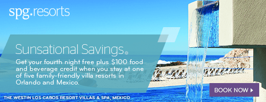 Fourth Night Free and $100 Resort Credit