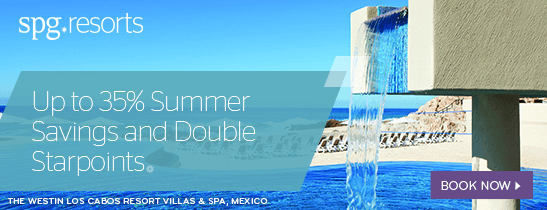 Up to 35% Summer Savings and Double Starpoints