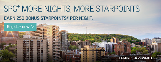 SPG More Nights, More Starpoints